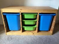 Excellent condition!!IKEA storage unit and trays.