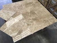 Coffee late polished marble tiles floor and wall marble tiles