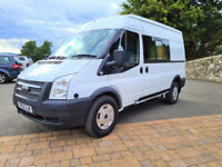 Ford Transit MWB Crew Van – Very Rare Vehicle, 6 Speed, Very Low Miles