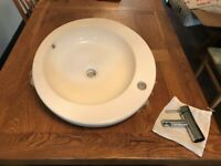 Hand Wash Basin - Deep Counter top style with tap - New