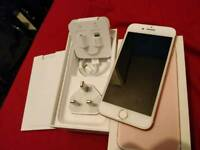 *NEW 3 days old Apple iPhone 7 rose gold 32gb, UNLOCKED warranty boxed charger fully working