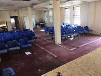 D1 HALL SPACES AND OFFICES IN ILFORD READY FOR OCCUPATION IN DAYS