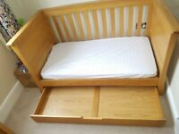 Mamas and Papas Ocean Bedroom Furniture - Cot/bed, Wardrobe, Dresser/Changing Station, Drawer Unit