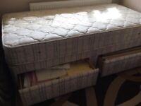 Single 2 Drawer Divan with Premier Gold Orthopaedic mattress
