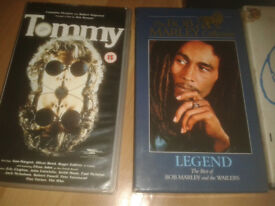 Collection of Rare original VHS Music Concerts/Documentaries.The Stones/Who/Hendrix/Bob Marley