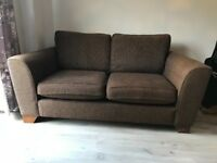 2 x 3 Seater Sofas for Sale. Brown Fabric. M&S