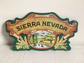 SIERRA NEVADA BEER VINTAGE CUT OUT ADVERTISING METAL TIN SIGN POSTER PUB BAR
