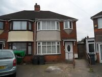 3 BEDROOM SEMI DETACHED HOUSE TO LET, NEWLY RENOVATED, PERRY BARR