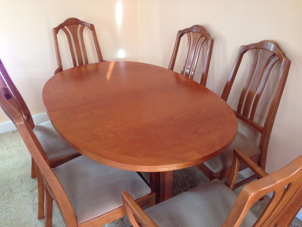 Parker Knoll Teak Dining Table and 6 Chairs