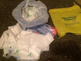 Potette folding travel potty & liners