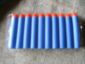Brand New. 500 Nerf refill/replacement Darts - Blue. 6cm tall