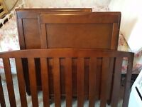Only £100 Walnut sleigh cotbed - kiddicare. Quick sale needed!!
