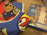 Paw patrol single bed cover & curtains