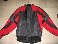 Nitro Racing N35 Motorcycle Jacket - Black & Red with Protective Plates