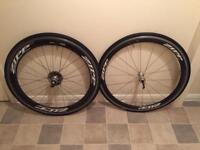 Zipp 303 & 404 Carbon clinchers wheel set