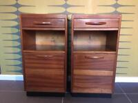Pair of mid-century retro bedside cabinets