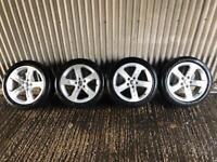 "Genuine 17"" Audi A3 Sport Alloy Wheels #2 - 5x112 - Will fit VW, Skoda, Seat, A4, A5"