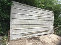 Free corrugated metal sheet - collection only. Approx 190cm x 380cm