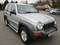 2003 03 JEEP CHEROKEE 2.4 SPORT STATION WAGON 4X4 LOW 81K ISOFIX CD PLAYER A/C 2 KEYS SH PX SWAPS