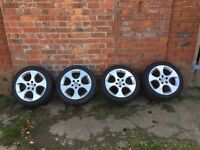 BBS Monza 17'' Alloy Wheels, Golf GTI, 5x112 - Winter Tyres - VGC