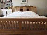 Super King Solid Oak Slay Bed Frame - Excellent High End Bed