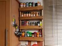 Spice rack.