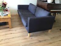 3seater charcoal grey ikea sofa Karlstad