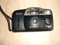 Canon Sureshot AF7 Point & Shoot 35mm camera and leather case