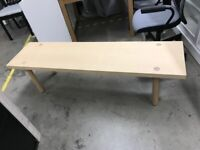 MÖCKELBY Bench, oak, 108 cm, IKEA Bristol #bargaincorner