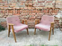 Pair of Original Vintage Polish Easy 60s CHAIRS Quirky Furniture Seat Retro Decor Mid-Century