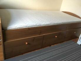 Single bed with 3 draws. Nearly new.