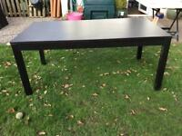 Ikea bjursta extendable dining table black-brown