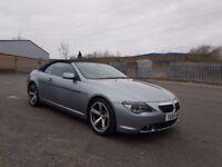 BMW 645 CI AUTO CONVERTIBLE,115K MILES,11 MONTHS MOT,FSH,OUTSTANDING CONDITION,,07858140523