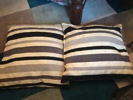 2 standard size cushions (covers have a zip so can be washed