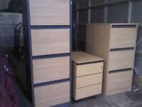 1 small/middle one FILING CABINET left FOR OFFICE FURNITURE - GOOD WORKING CONDITION