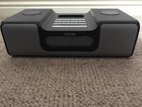 iHome iH8 black iPod dock speaker / radio / alarm clock