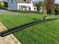 Twin wall,Ribbed perforated land drainage pipe 6m length by 150mm