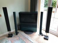 """Bang and Olufsen 32"""" TV with Beolab 6000 / 8000 speakers and Beolab 2 Subwoofer"""