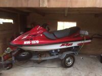 Kawasaki jet ski 1100 with trailer