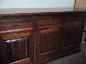 Sold wooden sideboard