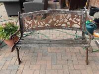 FREE - Attractive metal/wood garden bench - PROJECT