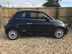 Fiat 500 Lounge 1.2 Black 2013 (62) FSH LOW MILES!