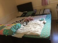 Single bed with trundle and 2 mattresses