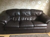 3 seater sofa, armchair and footstall