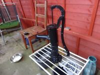 27 inches cast iron garden water pump repainted black