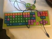 children's computer keyboard and optical mouse