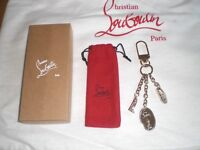 Christian Louboutin Keyring with 2 shoe charms, perfect gift