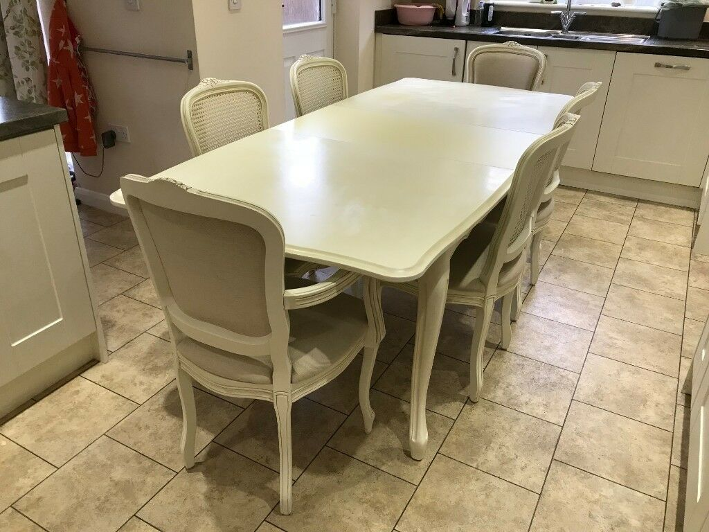 Laura Ashley Provencale Ivory Dining Table 6 Chairs Rrp 3 625 00 In Normandy Surrey Gumtree