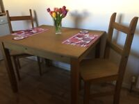 Kitchen Table & 2 Dining Chairs