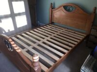 Double bed solid wood frame